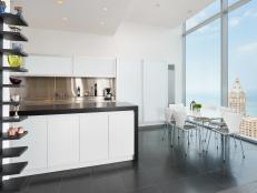 Modern Eat-in Kitchen With City View