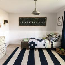 Vintage Furniture and Decor Add Fun Vibe to Boy's Room
