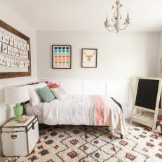 Charming Girl's Bedroom With Flea Market Furniture and Decor