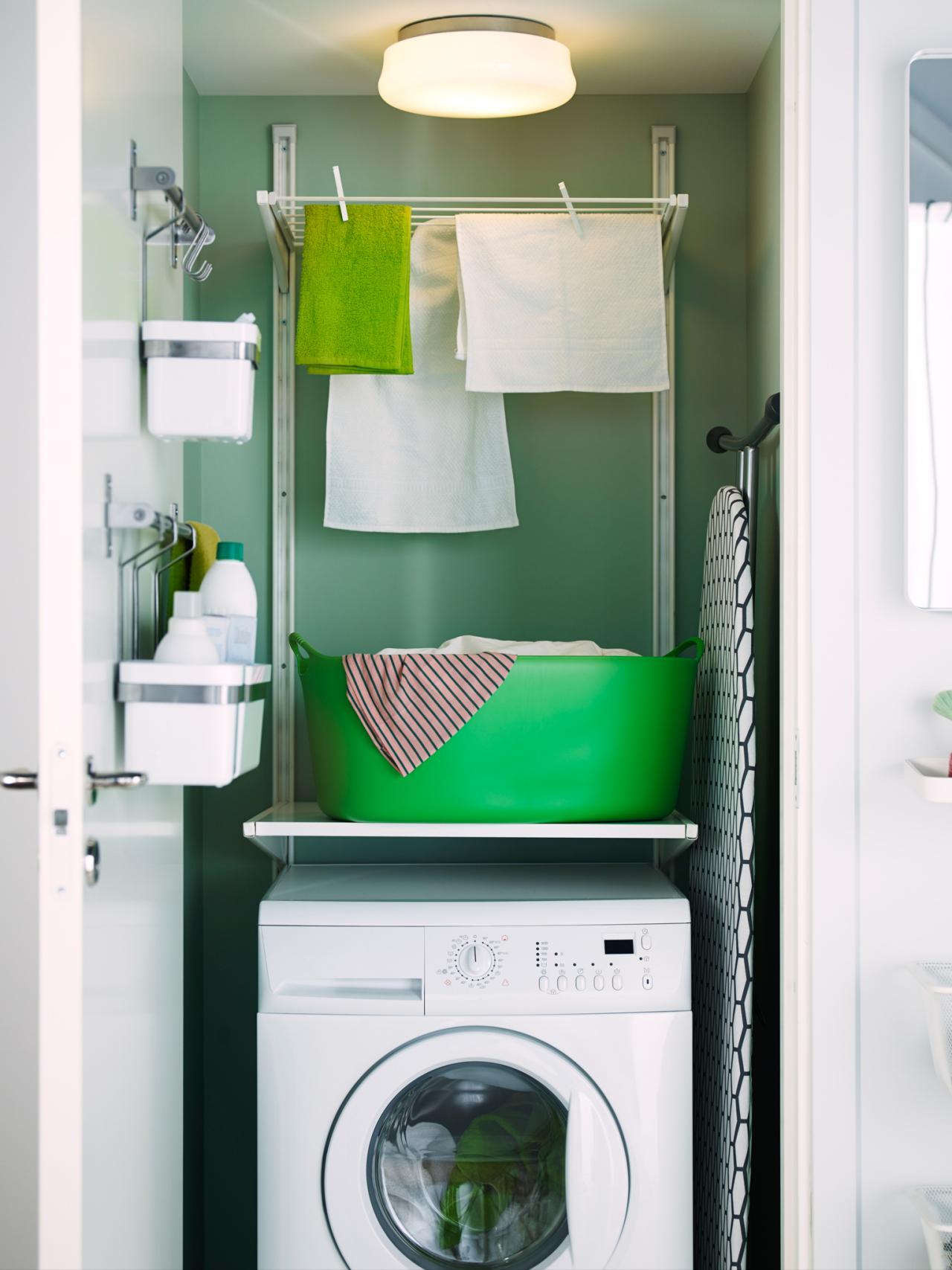 Laundry room cabinet ideas pictures options tips advice hgtv - Laundry room designs small spaces set ...