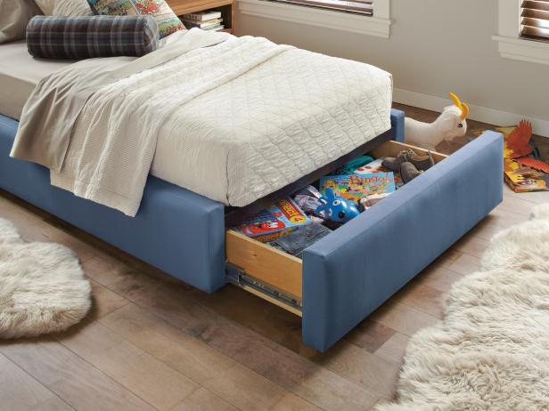 Kid's Room With Under-the-Bed Storage
