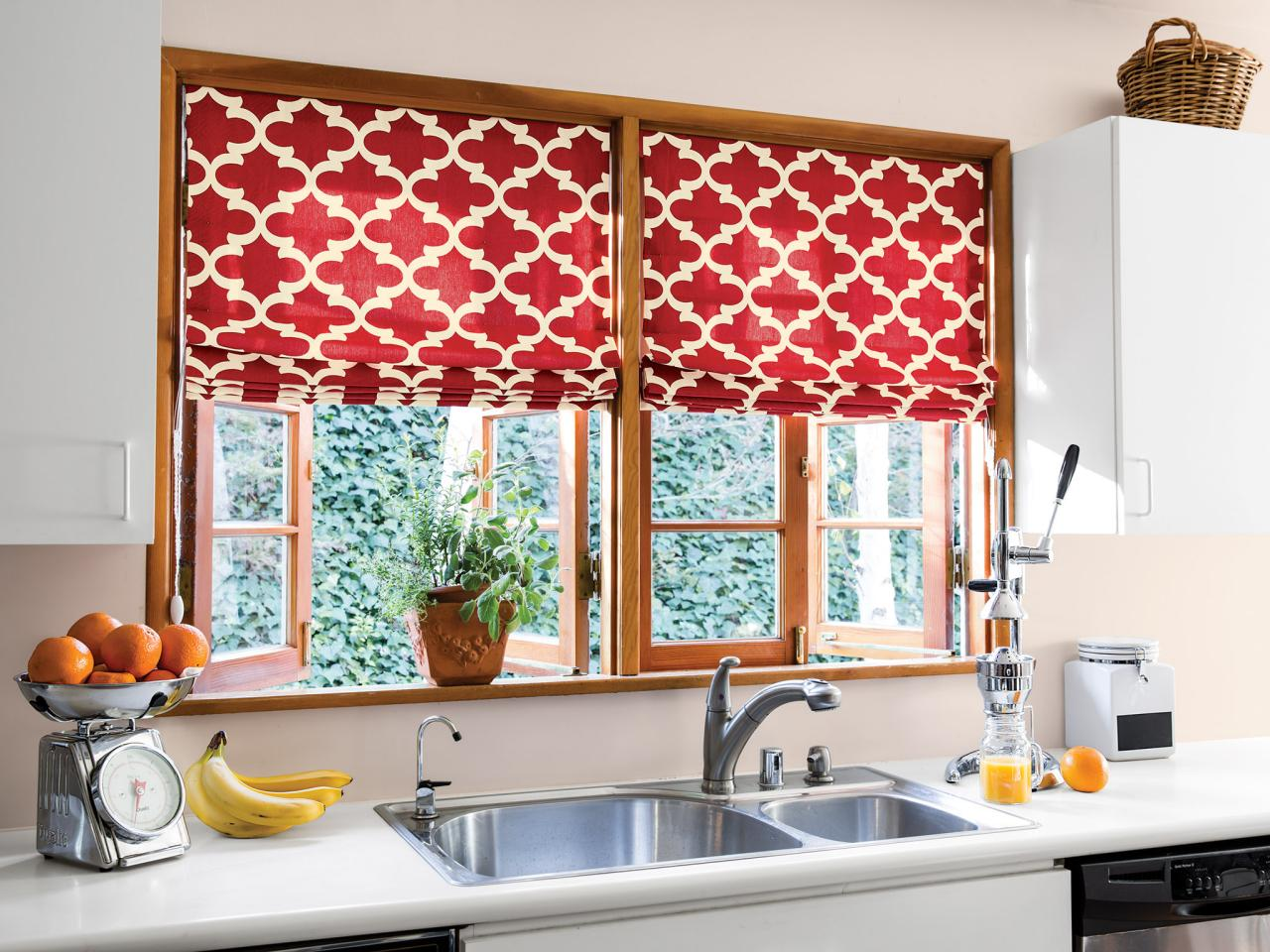 Creative kitchen window treatments hgtv pictures ideas Window treatment ideas to make