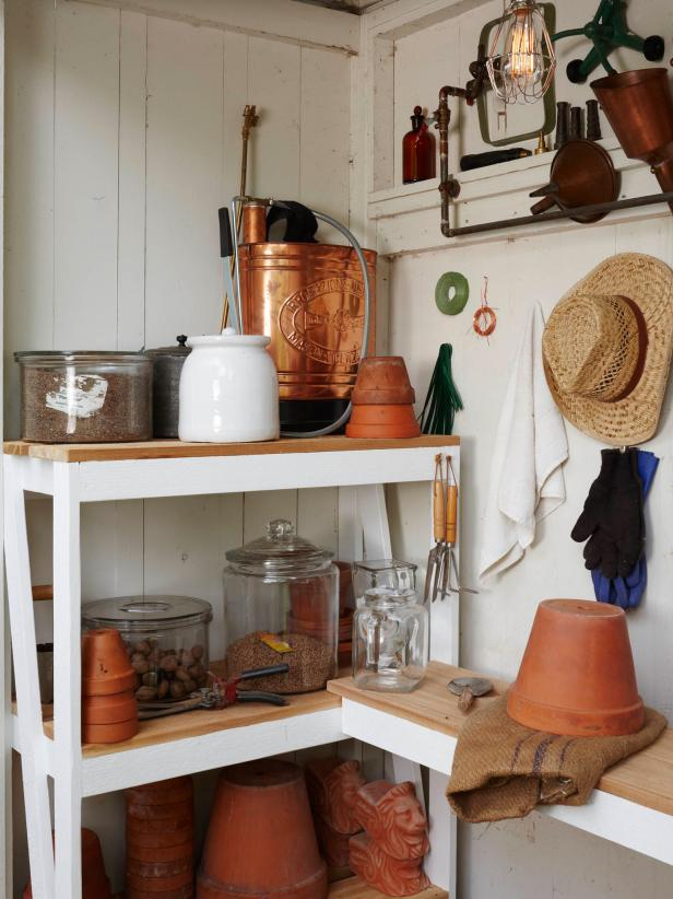 Outdoor Shed Stores Garden Supplies