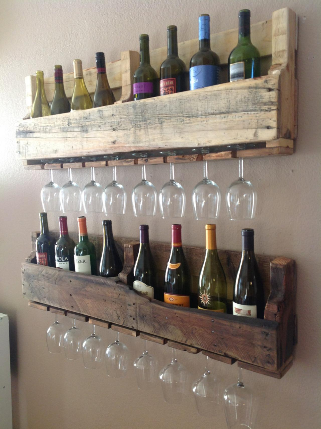 wine this set of two wine racks from del hutson designs combines the