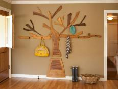 Family-Friendly Entryway With Custom Coat Rack