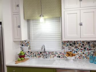 Country Kitchen With Button Backsplash