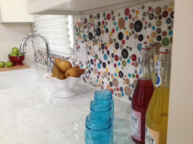 Button Kitchen Backsplash