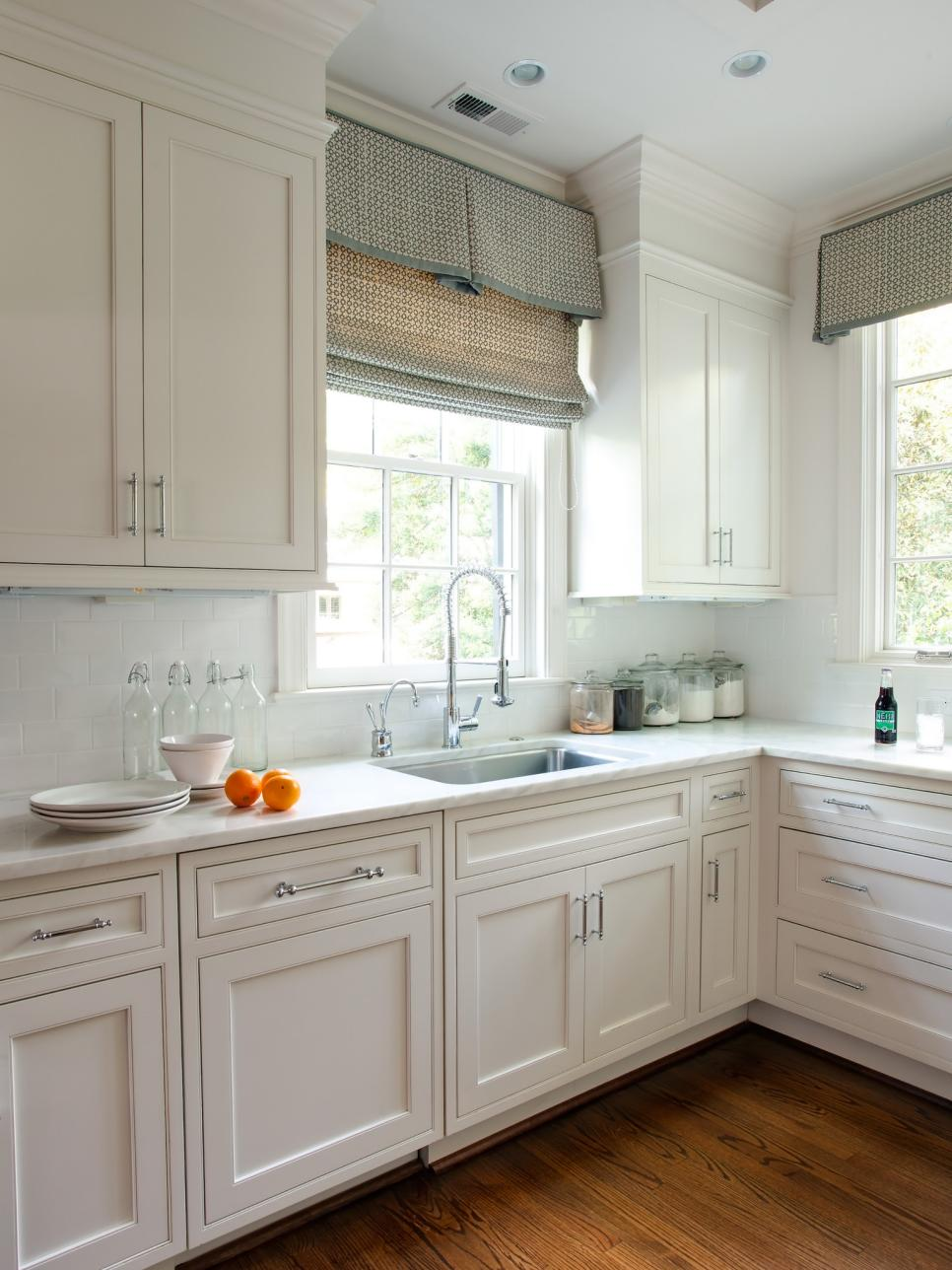 Roman Blinds For Kitchens 10 Stylish Kitchen Window Treatment Ideas Hgtv