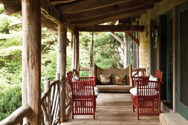 Elegant Cabin Porch