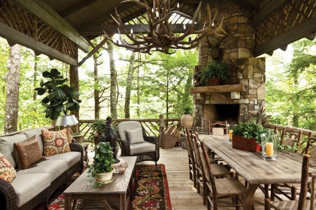 Laid-Back and Luxurious Cabin Porch