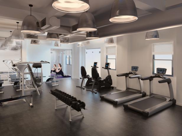 Modern, Industrial Fitness Center