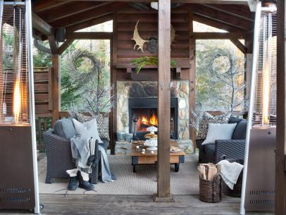 Room of the Week  Bundled Up for Fireside Banter. Home Design  Decorating and Remodeling Ideas  Landscaping  Kitchen