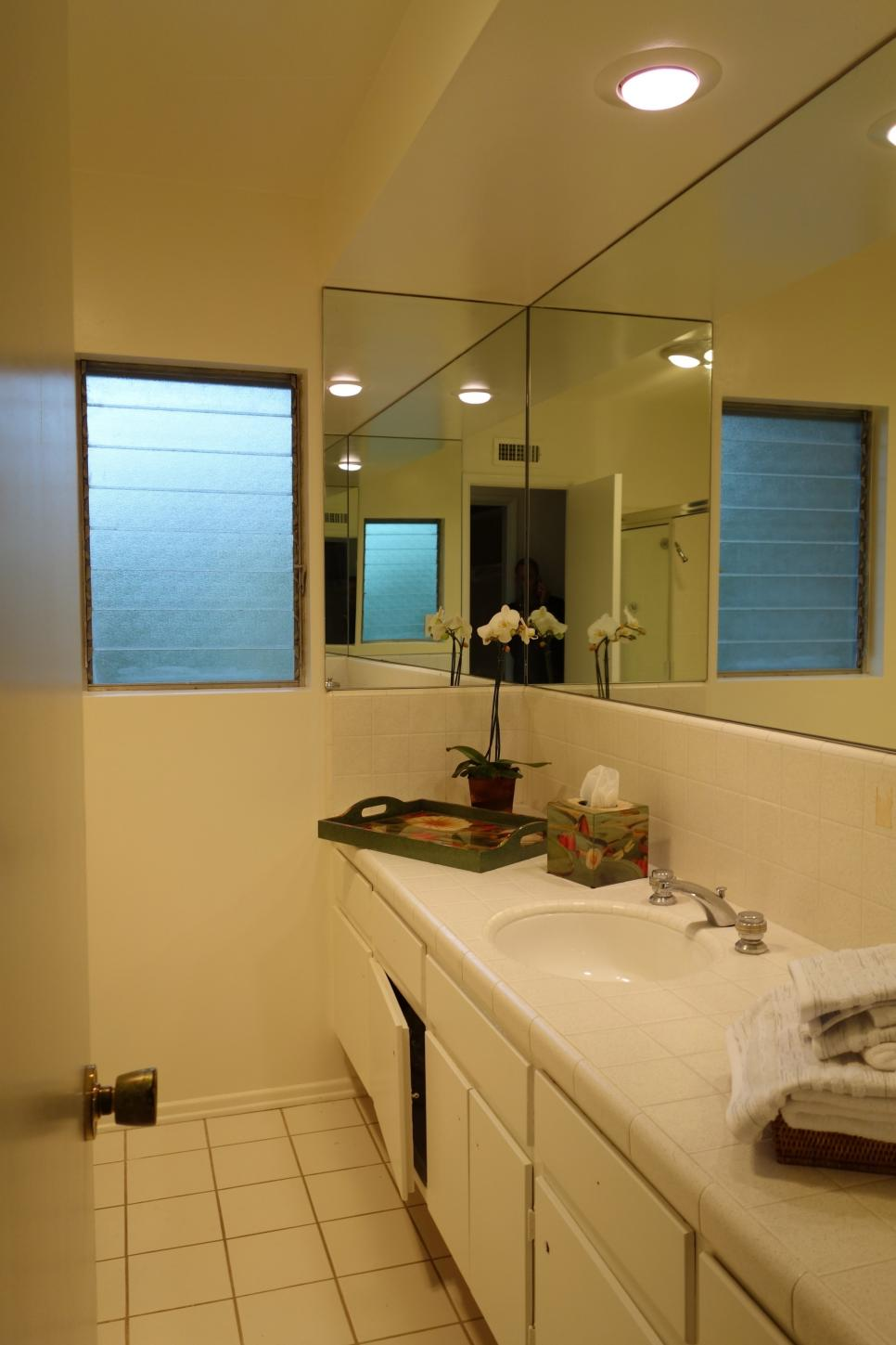 Before and after bathroom remodels on a budget hgtv for Bath remodel ideas