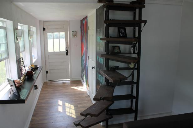 Tiny Home With Spiral Staircase