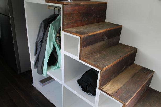 Stair Storage in Tiny Home
