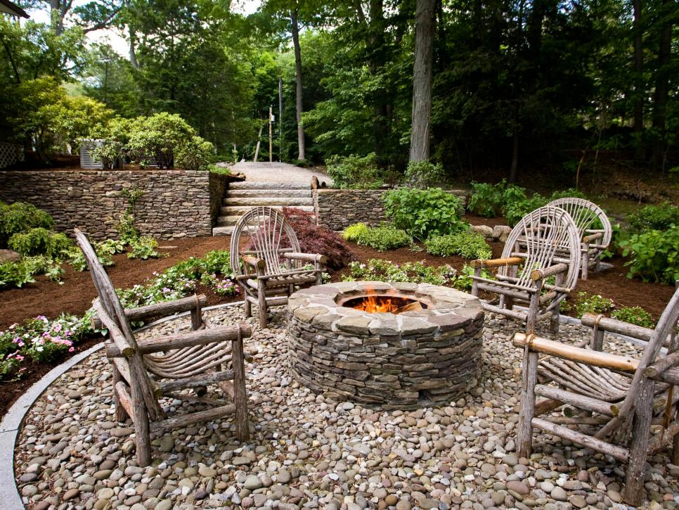 Rustic Backyard Designs : Rustic Style Fire Pits  Landscaping Ideas and Hardscape Design  HGTV