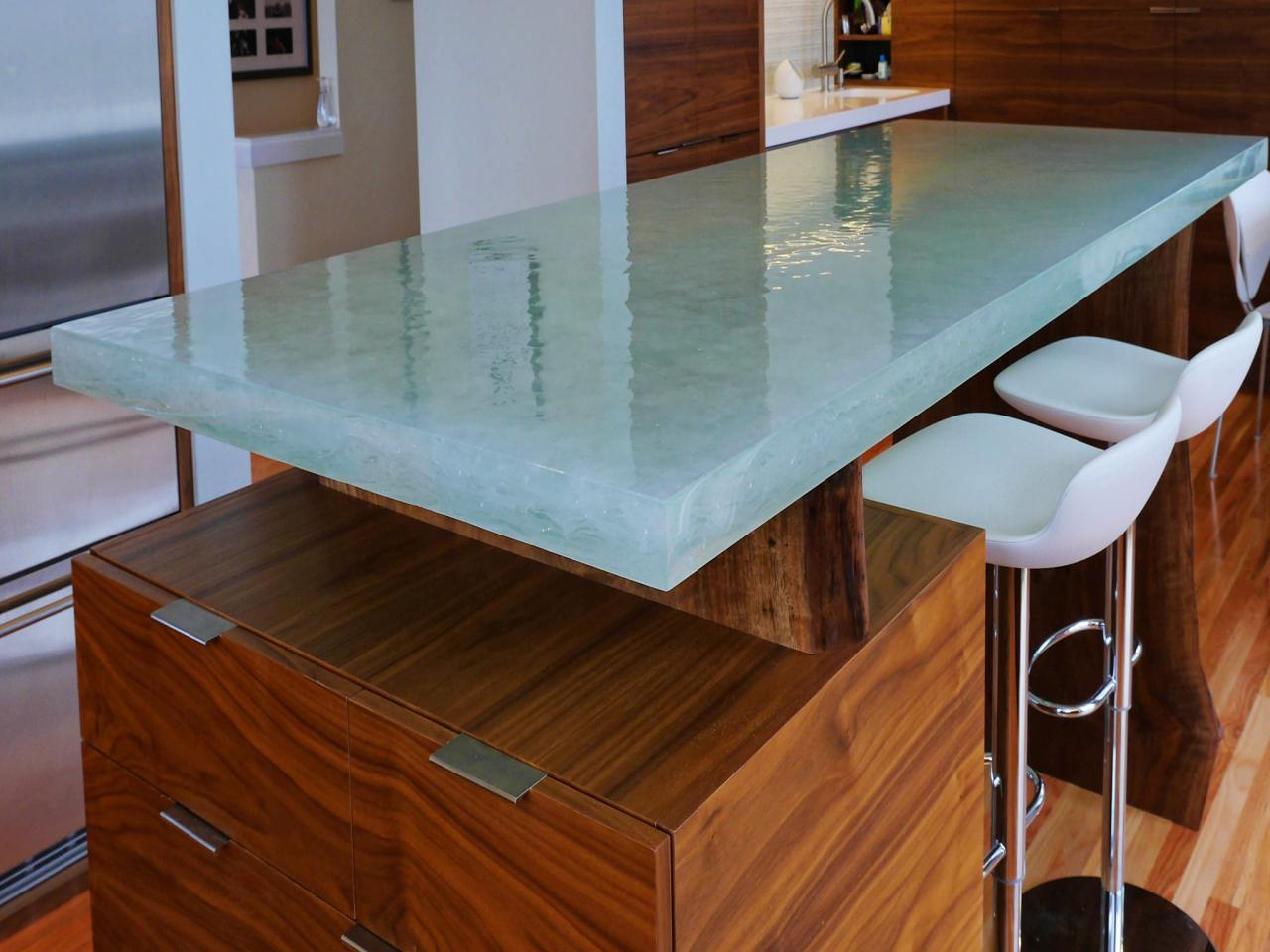 ... Or Get Creative With Glass Countertops.