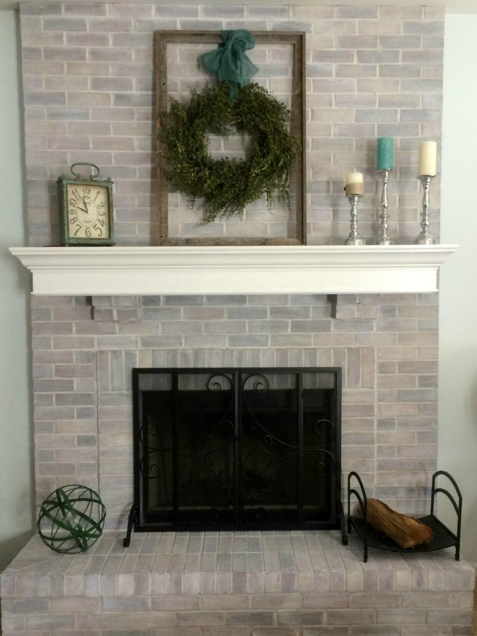Tremendous Diy Ideas To Give Your Brick Fireplace A Modern Update Home Interior And Landscaping Sapresignezvosmurscom