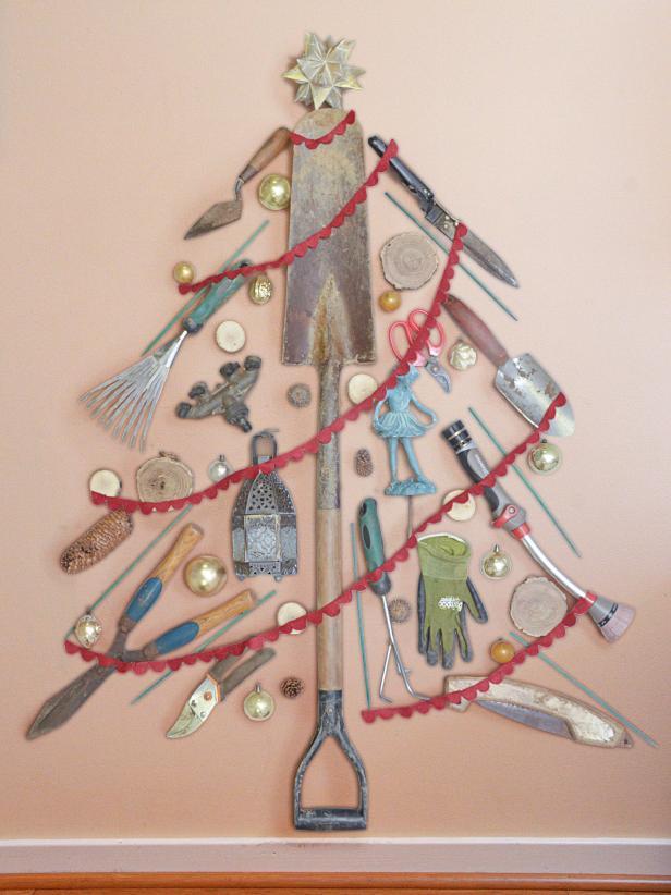 Garden Tool Christmas Tree