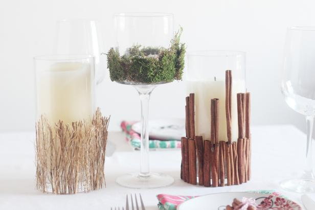 Decorated Candles Centerpiece