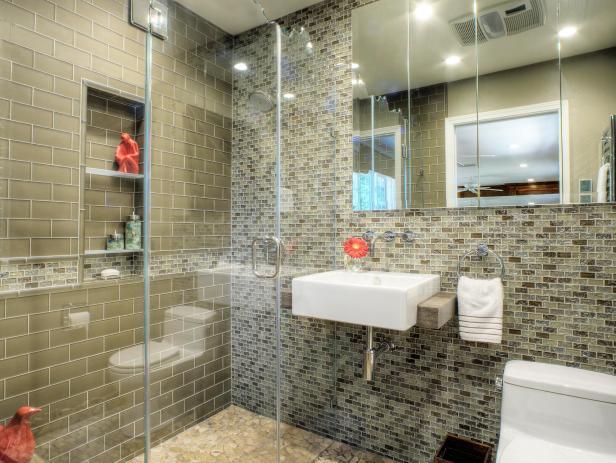 Contemporary Bathroom With Frameless Glass Shower