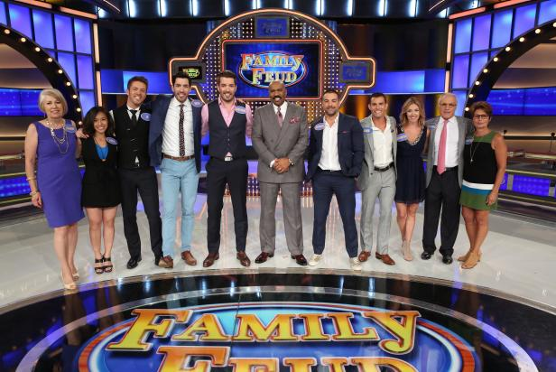 HGTV's Property Brothers and Kitchen Cousins on Family Feud