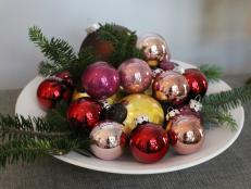 Bowl of Glass Decorations