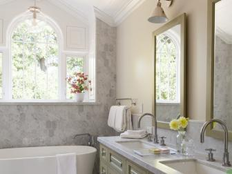 Master Bathroom With Carrara Wall and Counter