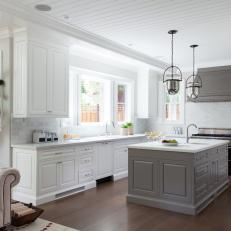 White Kitchen Marble Backsplash photos | hgtv