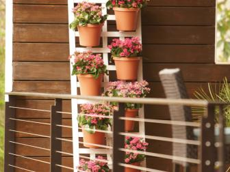 Vertical Planters on a Deck