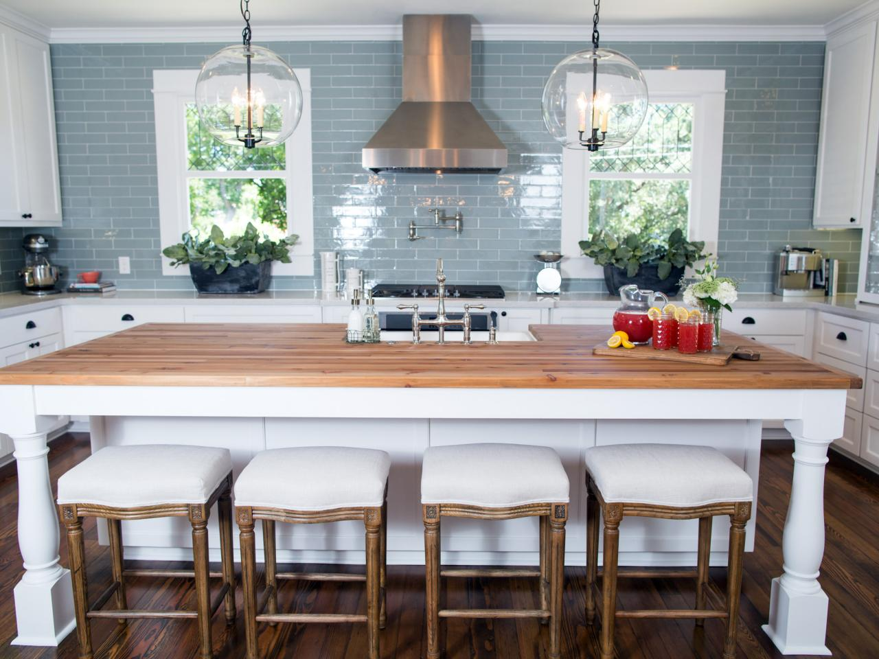 Fixer upper kitchen pendants - In The Kitchen Vintage Inspired Plumbing