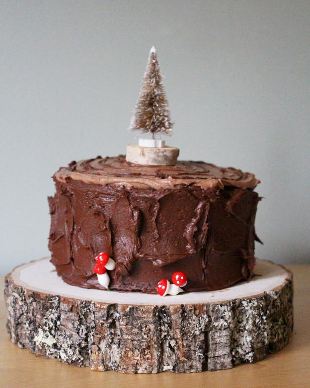 Finished Faux Bois Cake