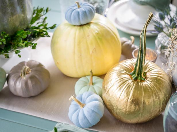 Metallic and Painted Pumpkins