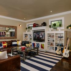 Homeownersu0027 Nautical Love On Display In Maritime Themed Living Room