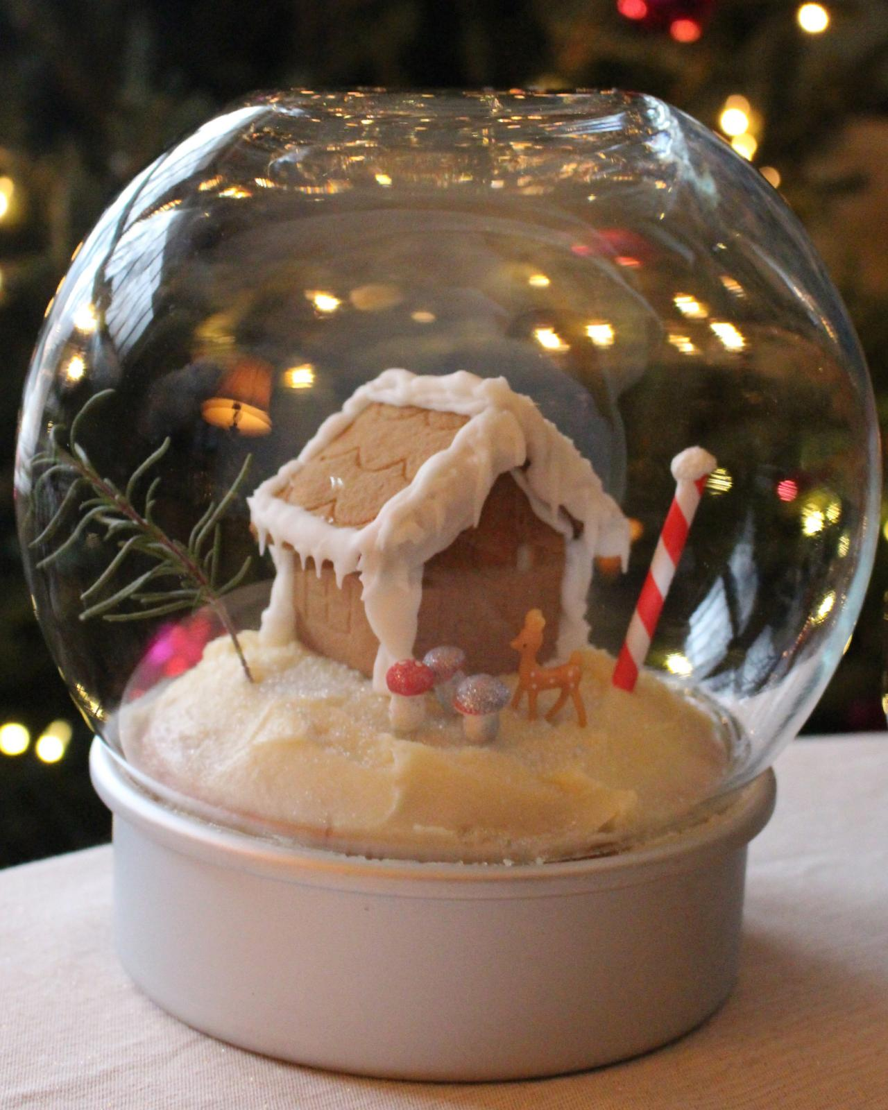 Mini Gingerbread House Diy: Make An Edible Snow Globe For The Holidays