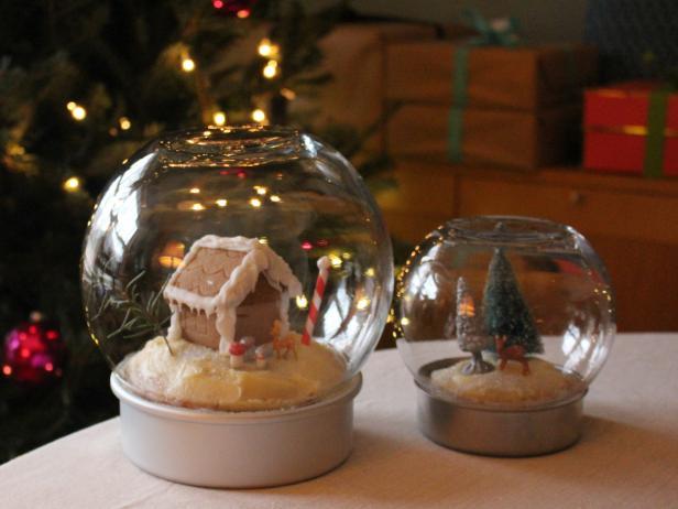 A Pair of Edible Snow Globes