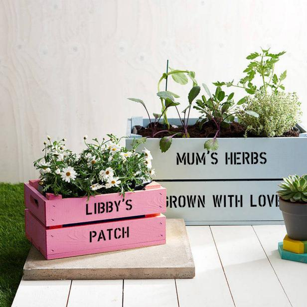 Personalized Garden Crate