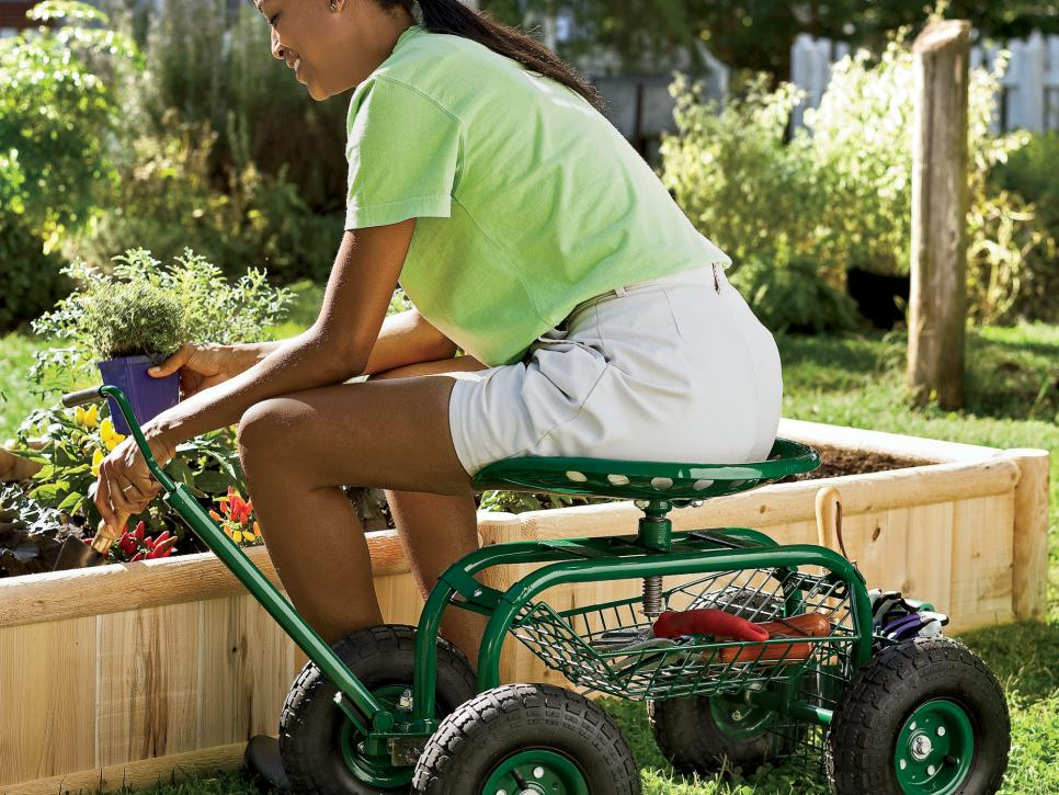Gardening seats hgtv for Gardening tools for seniors