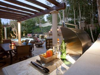 Southwestern Patio With Grill Station
