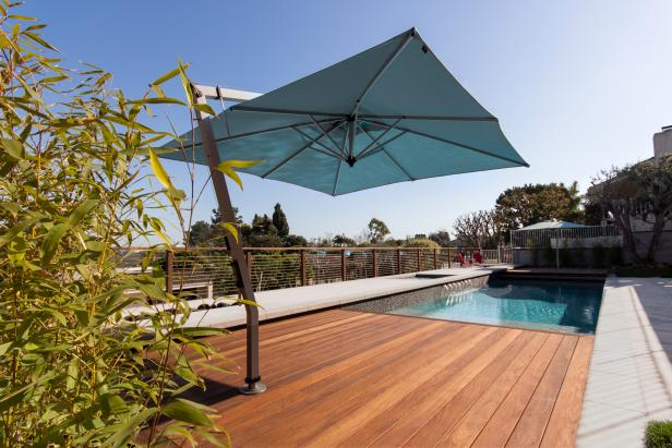 Modern Pool and Deck with Built-In Shade