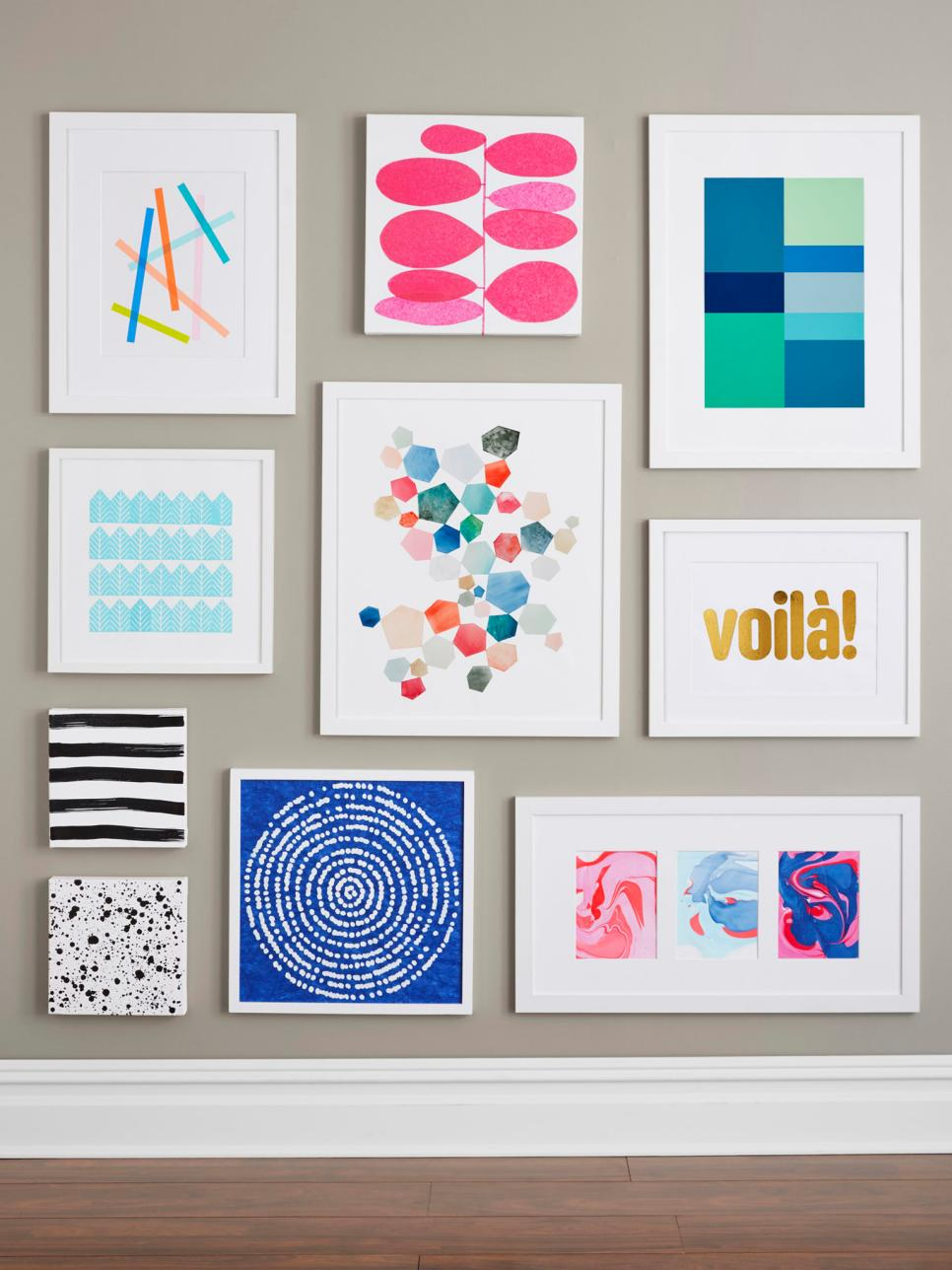 9 easy diy wall art ideas hgtv - Diy wall decorations ...