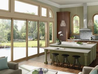 Sunny Kitchen With Stacking Glass Doors