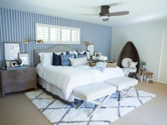 Play of Patterns in Transitional Bedroom