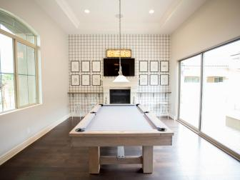 White, Transitional Game Room
