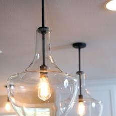 Pendant and Recessed Lighting in Kitchen