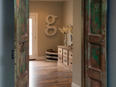 Study With Antique Wooden Doors