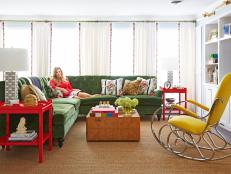 Green and Yellow and Red Living Room