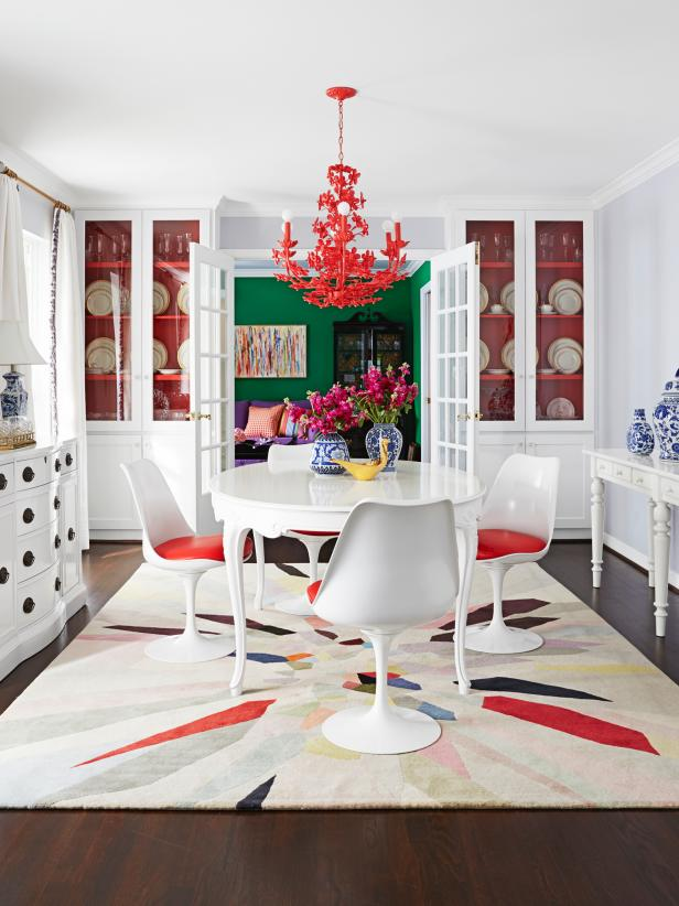 Multi-Colored Eclectic Dining Room