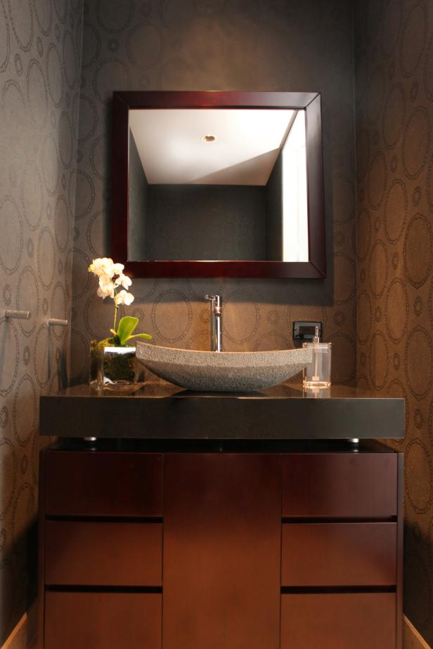 Photo page hgtv for Vanities for powder rooms