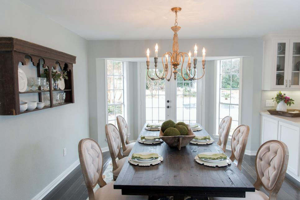 A fixer upper dilemma classic and traditional vs new and for Dining room joanna gaines